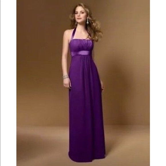 1c0032bb86469 Alfred Angelo Dresses | Grape Halter Bridesmaid Dress 7016 | Poshmark
